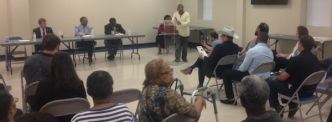 Community members, local politicians and environmentalists gathered Tuesday to discuss Enviva's Dobbins Heights plant.