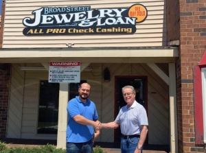 Glenn Taylor (left) is the owner Broad Street Jewlery and Loan, which is this week's Local Business Spotlight.