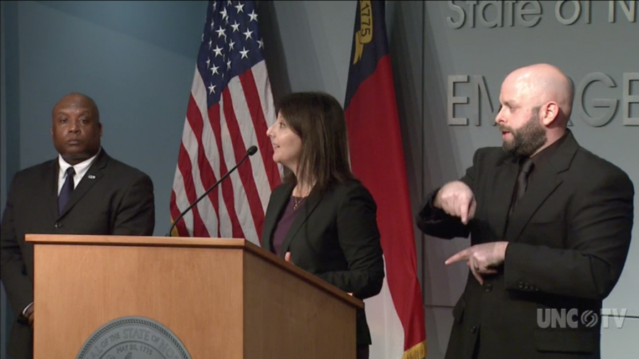 N.C. Department of Health and Human Services Secretary Dr. Mandy Cohen at a news briefing Tuesday, March 17, 2020.