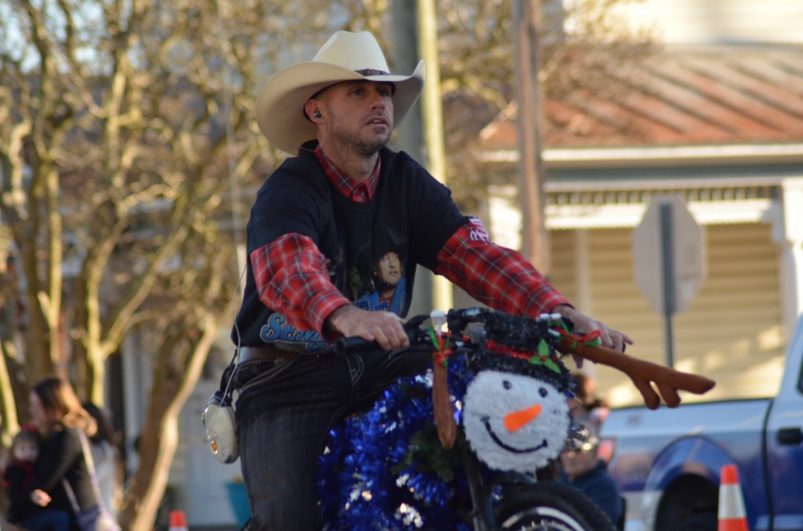 Scuba Steve, pictured riding in the Hamlet Christmas Parade, was not injured during a hit-and-run wreck Thursday afternoon.