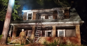 It took the Hamlet Fire Department more than five hours to clear the scene of a house fire on Entwistle Street Thursday night into Friday morning.