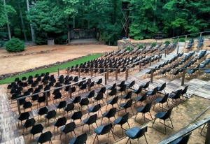 The amphitheater at Snow Camp Outdoor Theatre in Alamance County