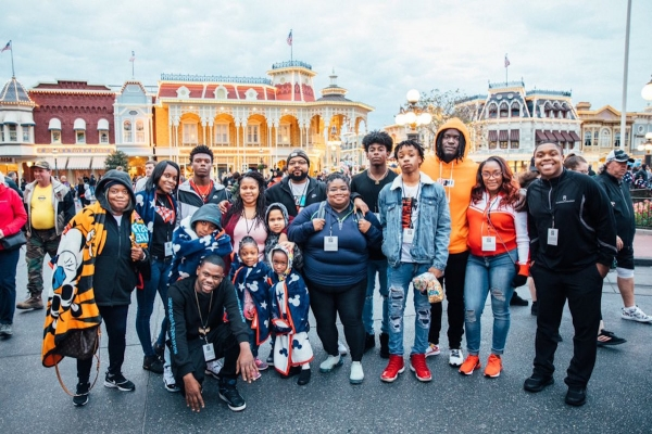 Richmond county native and NFL Pro Bowler Melvin Ingram (orange) invited several family members to the 2019 all-star game in Orlando.