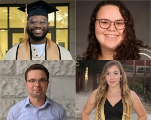 Clockwise, from top-left: Raymond Gilbert Jr., Miranda Jones, Allisa Dilling and Zachery Bayles.
