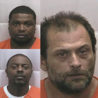 Naquan Gill, top, and Tyree Bell, bottom, were charged with crack cocaine possession following the execution of a search warrant Jan. 3. William L. Cox was arrested Jan. 7 after crack cocaine was allegedly found in his vehicle during a traffic stop.