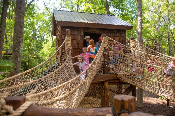 The N.C. Zoo's Treehouse Trek attraction opened last Friday.