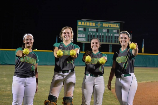 Kayla Hawkins, Owen Bowers, Paige Ransom and Greyson Way combined for a record-breaking six homers in Tuesday's third round playoff win over Lake Norman.