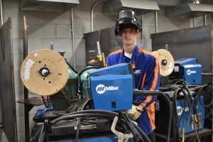 Richmond Senior student Michael DeMay chose the welding pathway through the school's Career and Technical Education program.