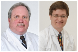 Dr. John Byron, obstetrician and gynecologist with Southern Pines Women's Health Center; Dr. Christoph Diasio, pediatrician with Sandhills Pediatrics.