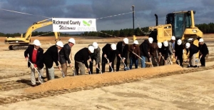 Groundbreaking ceremony for the new Enviva site on Highway 177 North outside of Hamlet.
