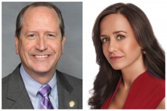 State Sen. Dan Bishop and Fayetteville businesswoman Stevie Rivenbark Hull were two of three Republican candidates to file for the 9th Congressional District special election on Thursday. The third was Kathie Day of Cornelius, who lives outside the district.