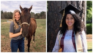 Alexis High, left, and Sonya Goveo have been accepted into N.C. State University's College of Veterinary Medicine program.