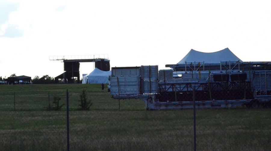 Rockingham Dragway is transforming for this weekend's Epicenter Festival as stages and tents are set up.
