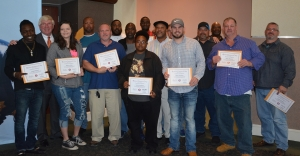 Pictured are the 15 students who graduated Nov. 20 from the truck driver training program at Richmond Community College.