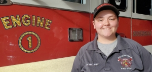 Heather Bellamy was recently hired as the Rockingham Fire Department's first full-time female firefighter.