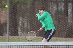 The Raider tennis team was held scoreless in Tuesday's match at Lumberton.