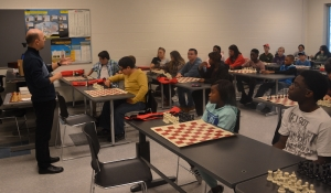 Students who attended Saturday's G.R.E.A.T. academy started the session off with a game of chess.