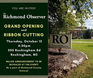 Join the RO for its grand opening event Thursday, October 12 at 4:30 p.m. Major announcements are set to be made.