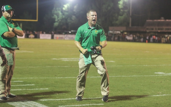 ROSports File Photo: Head coach Bryan Till yells during a game at Pinecrest High School in 2018.