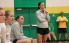 "Second-year head coach Ashleigh Larsen (right) applauded her team's ""relentless pursuit"" this season."