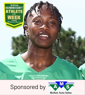 Da'Shaun Wallace is this week's Official Richmond County Male Athlete of the Week presented by McNair Auto Sales.