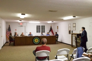 Members of Ellerbe's Town Councul met Monday for the town's October meeting.