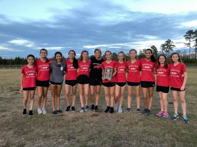 Hamlet girls cross country brings home conference championship; boys finish second