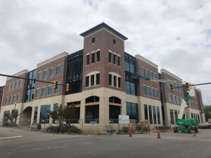 The Kenneth and Claudia Robinette Building, which will house the Leon Levine School of Business and Information Technology in downtown Rockingham, has a projected open date for July 10, but the College has contingency plans in place if the facility is not ready to be open for classes starting in August.