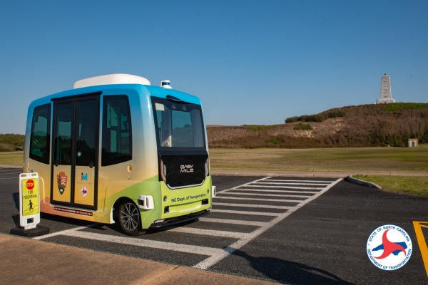 State Transportation, National Park Service officials mark a milestone in launch of self-driving shuttle