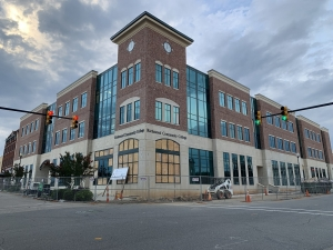 The downtown campus of Richmond Community College will not be complete in time for the fall semester, but college President Dr. Dale McInnis expects the project to be completed later this year.