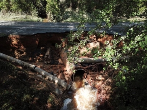 Aside from being washed out, there was a waterline break on Nicholson Road on Monday after Hurricane Florence soaked the Carolinas.