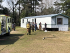 East Rockingham Fire Department Extinguishes Mobile Home Fire