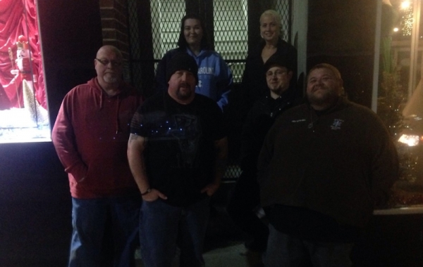 "Members of the Pee Dee Region Paranormal on location at a ""haunted"" site."