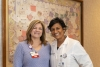 Lynn Lanier, MSN, R.N., ONN-CG, oncology nurse navigator, and Sushma Patel, M.D., radiation oncologist, of the FirstHealth Cancer Care team.