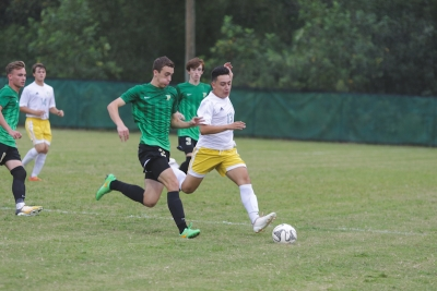 Senior forward Victor Lucero scored Richmond's lone goal in Wednesday's 5-1 loss to rival Pinecrest.
