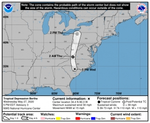Tropical Depression Bertha dumps rain on Carolinas