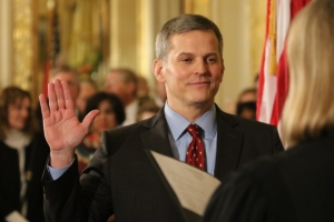 Attorney General Josh Stein, during a January 2017 swearing-in ceremony at the Executive Mansion.