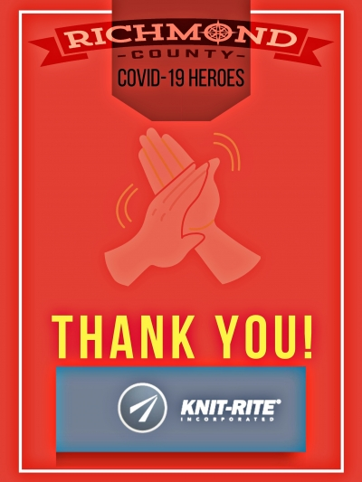 Richmond County COVID-19 Heroes: Knit-Rite/Therafirm develops new face mask