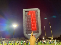 The Raider football program had a new LED down marker donated by Amy Denson Harris last month.