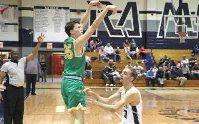 Raiders land 10 triples in 40-point rout of Purnell Swett