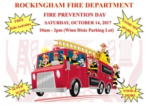 Rockingham Fire Department will host its annual Fire Prevention Day on Saturday, Oct. 14, 2017.