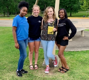 Zalayell Short, Allyson Leggett, Kylie Howell and Raven Newton won the Service Snapshot competition at the Beta Club National Convention in Oklahoma City.