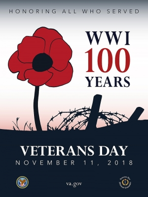 Poster Commemorating 100th Anniversary of Armistice Day