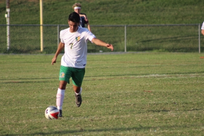 ROSports File Photo: Carlos Alcocer (7) scored Richmond's only goal in Tuesday's 3-1 loss to Hoke County.