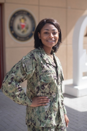 Zoriah Johnson, a 2016 graduate of Richmond Senior High School, is a yeoman at NSA Bahrain, forward-deployed to the Arabian Gulf region in the Navy's U.S. 5th Fleet.