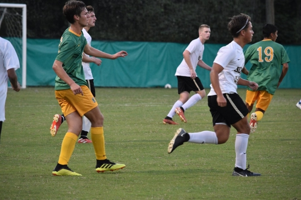 ROSports File Photo: Lee Hayden (left) scored a goal in Wednesday's 2-1 win over Jack Britt High School.