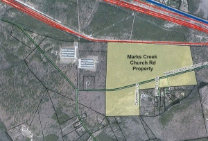 CSX Transportation has requested the rezoning of 160 acres of its property on Marks Creek Church Road to heavy industrial, like the rest of its properties.