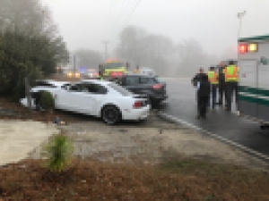 Mizpah Road Crash Injures Three
