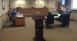 The lectern in the Hamlet City Council chamber didn't stay empty long Tuesday as several people made presentations before the board.