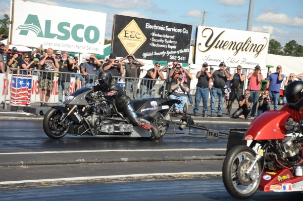 Jay Turner is expected to return to Rockingham Dragway for a recently rescheduled motorcycle event.